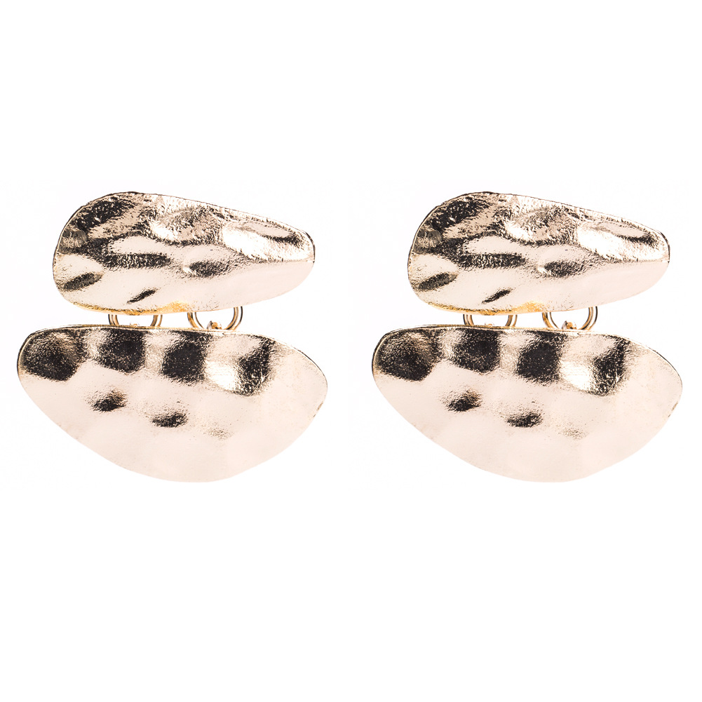 Alloy Fashion Geometric earring(Gold and silver) NHJE1170-Gold and silver