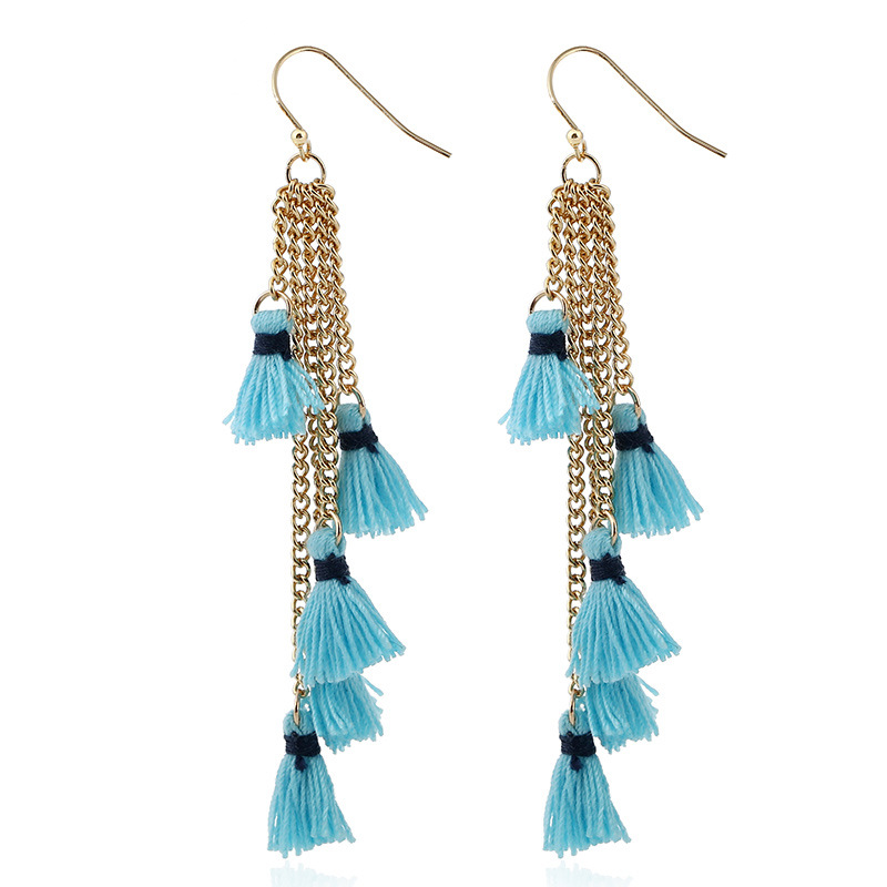 Womens Geometric tassel Alloy Earrings NHNZ122137