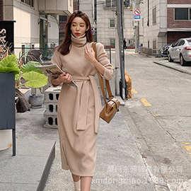 韩国代购正品韩版女|2018冬|长袖修身宽松时尚连衣裙| LYQ-32116