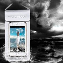手机防水袋潜水套 环保TPU透明可触屏手机包 海边游泳收纳水袋6寸
