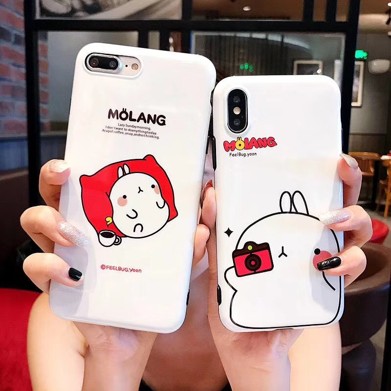 Ins cartoon spoof cute potato apple 8 6s mobile phone shell iPhonex 7plus glossy couple male and female models