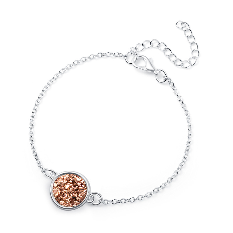 HotSelling Silver Round Resin Natural Stone Love Bracelet for Lover Gift NHAN254163
