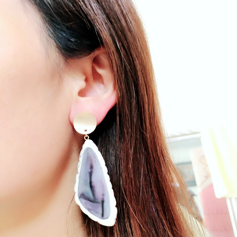 Alloy Fashion  earring  (Blue earrings) NHOM1256-Blue-earrings