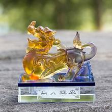 一件代发汽车香水座车用香水古法琉璃貔貅摆件 汽车车座香水