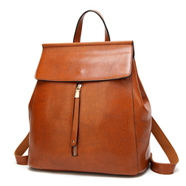 Backpack female new casual handbags wild simple ladies bag fashion PU leather retro backpack
