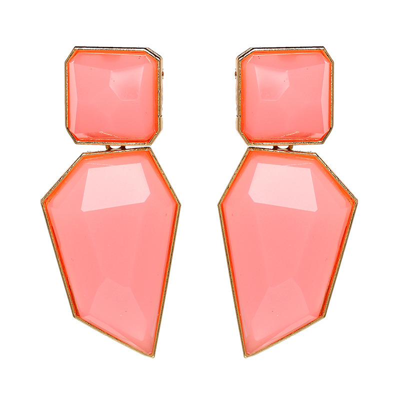 Plastic Simple Geometric earring  (red) NHJJ4884-red