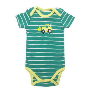 Factory direct baby triangle baby romper cotton short-sleeved bag fart clothes 5-piece short-sleeved one-piece romper children's clothing