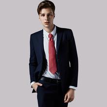 新款休闲商务男装修身休闲商务西装套装男纯色修身男式西服礼服