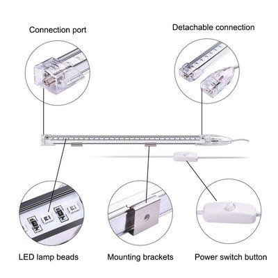 现货批发高亮0.3米60灯USB便捷式UV紫光灯条舞台效果灯LED黑光灯