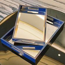 现代简约木质客厅餐桌茶几摆件样板房家居创意实用装饰品镜面?#20449;? class=