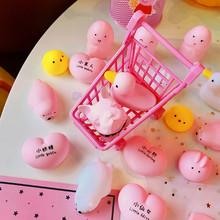 卡通卖萌小可爱捏捏叫发泄玩具爱心小兔子小鸡发泄捏捏乐发声玩具