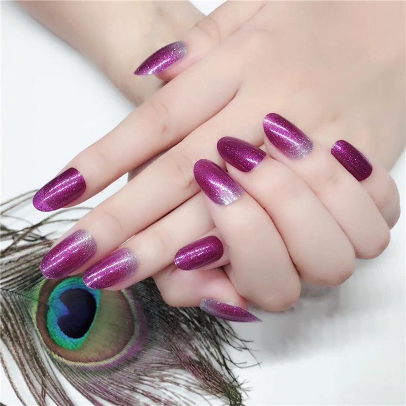 甲油膜混色渐变色指甲贴纸 持久防水指甲饰品 时尚美甲贴