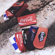 18新品男士潮牌纯棉短袜碳酸饮料提花图案个性女士袜子5双礼盒装