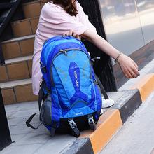 跨境專供登山包雙肩包純色休閑戶外旅行包耐磨大容量雙肩背包