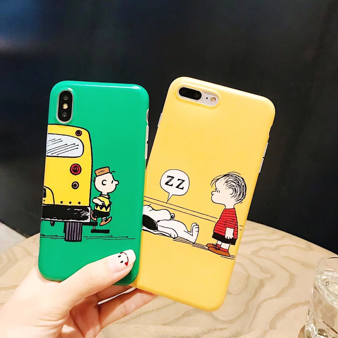 Cute Snoopy Dog Apple X Mobile Shell iPhone7plus/8p/6s Cartoon Creative Men and Women Soft Shell