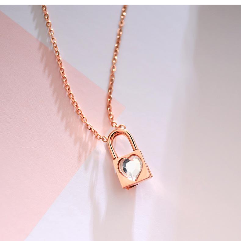 Titanium&Stainless Steel Korea Geometric necklace  (necklace) NHOP3048-necklace