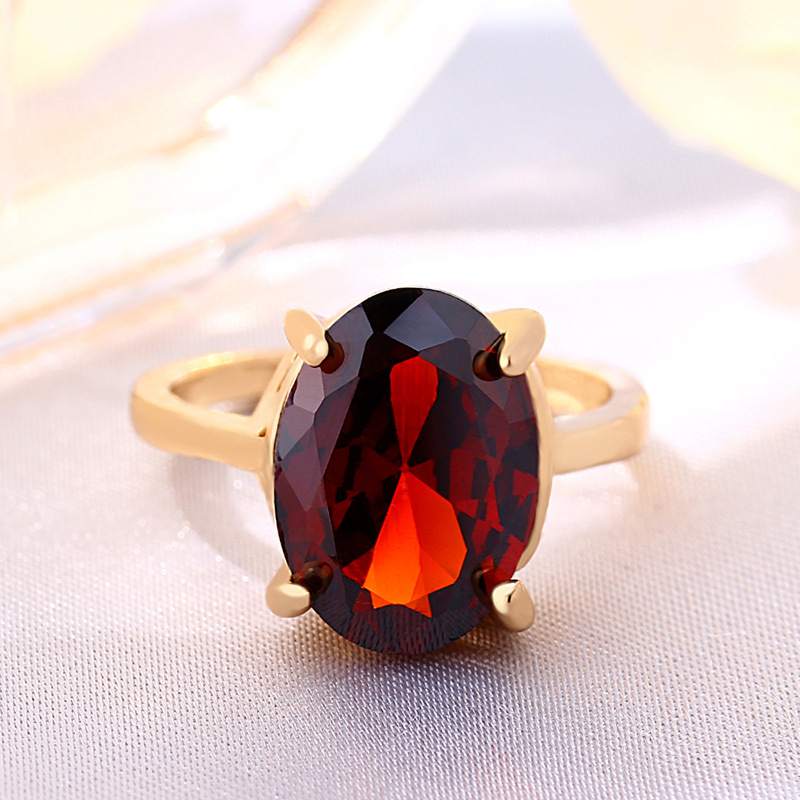 Hot sale oval zircon ring platinum diamond fashion women crystal jewelry wholesale NHIM182293