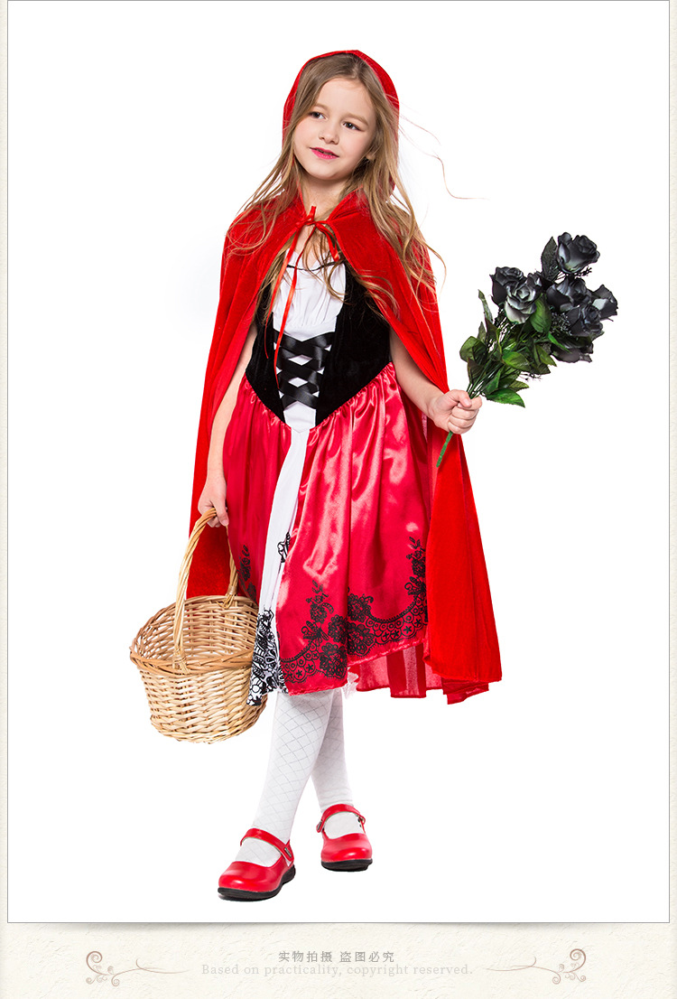 New Halloween cosplay childrens Little Red Riding Hood costume NHFE153949