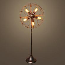 复古工业风落地灯客厅卧室灯阳台吧台创意风扇灯美式怀旧咖啡店灯