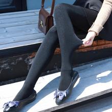 新款秋冬季七彩丝打底裤女加绒加厚连裤袜外穿显瘦透银丝保暖修身