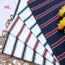 厂家直销印男女装时装全棉条子布黑白条梭织条纹布料服装衬衫料