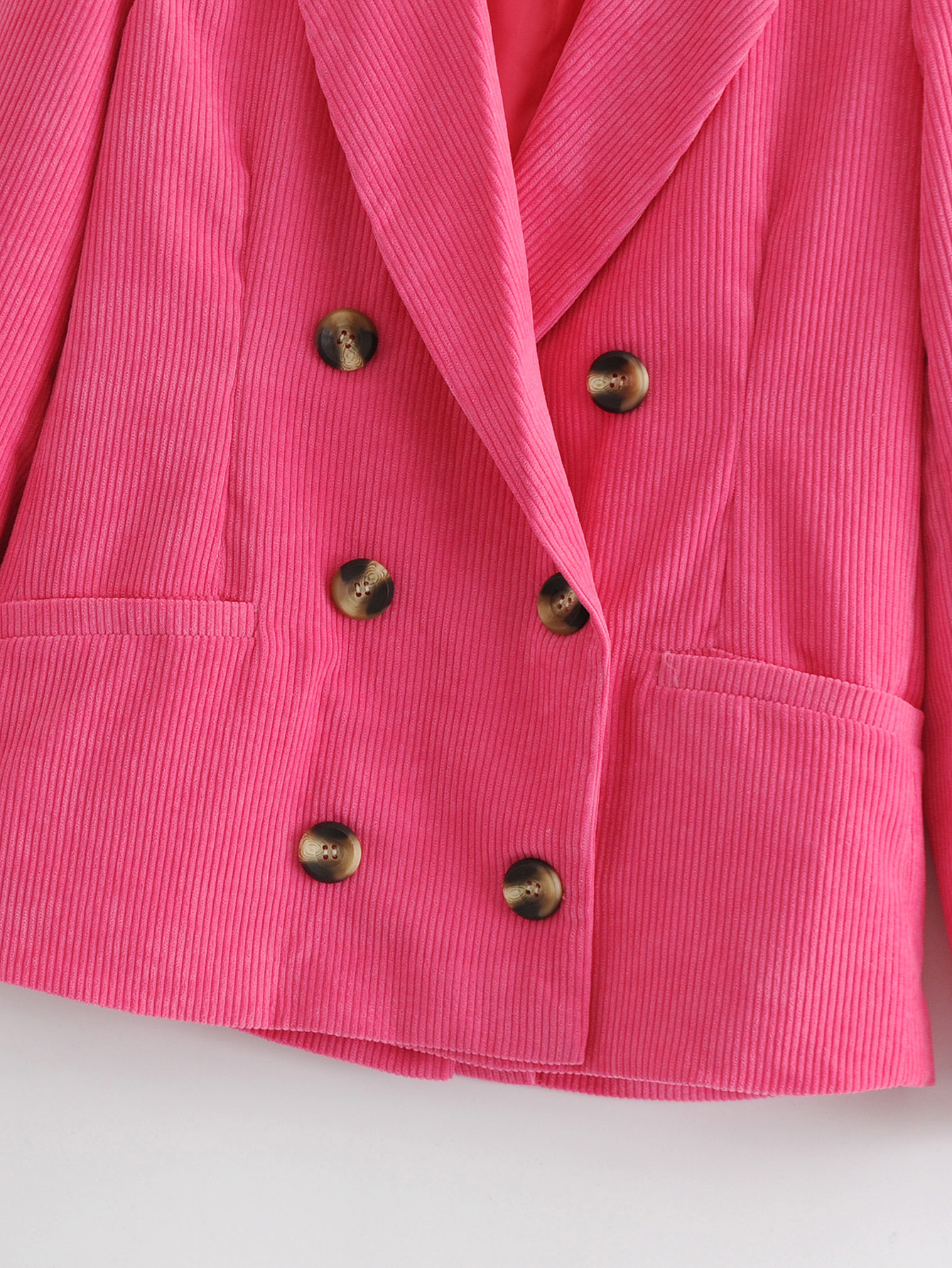 Polyester Fashion  coat  (Rose red-S) NHAM6720-Rose-red-S