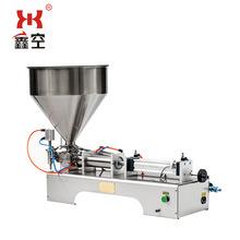 鑫空G1WTD卧式自动气动液体定量灌装机膏体蜂蜜食用油灌装机