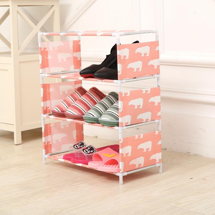 简易家居 组装DIY简易布艺鞋架 鞋子收纳架 多层无纺布鞋柜厂家