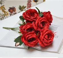 红色系列 花头 把束玫瑰 紫藤绣球 花藤红色婚礼拱门花墙