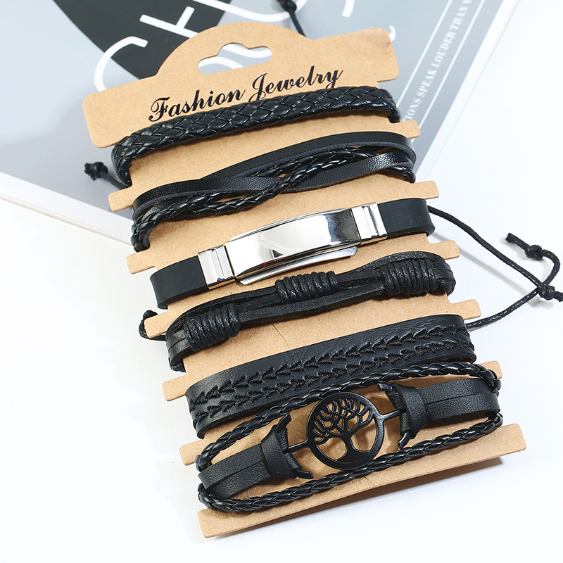 Leather Fashion bolso cesta bracelet  (Six-piece set) NHPK2172-Six-piece-set