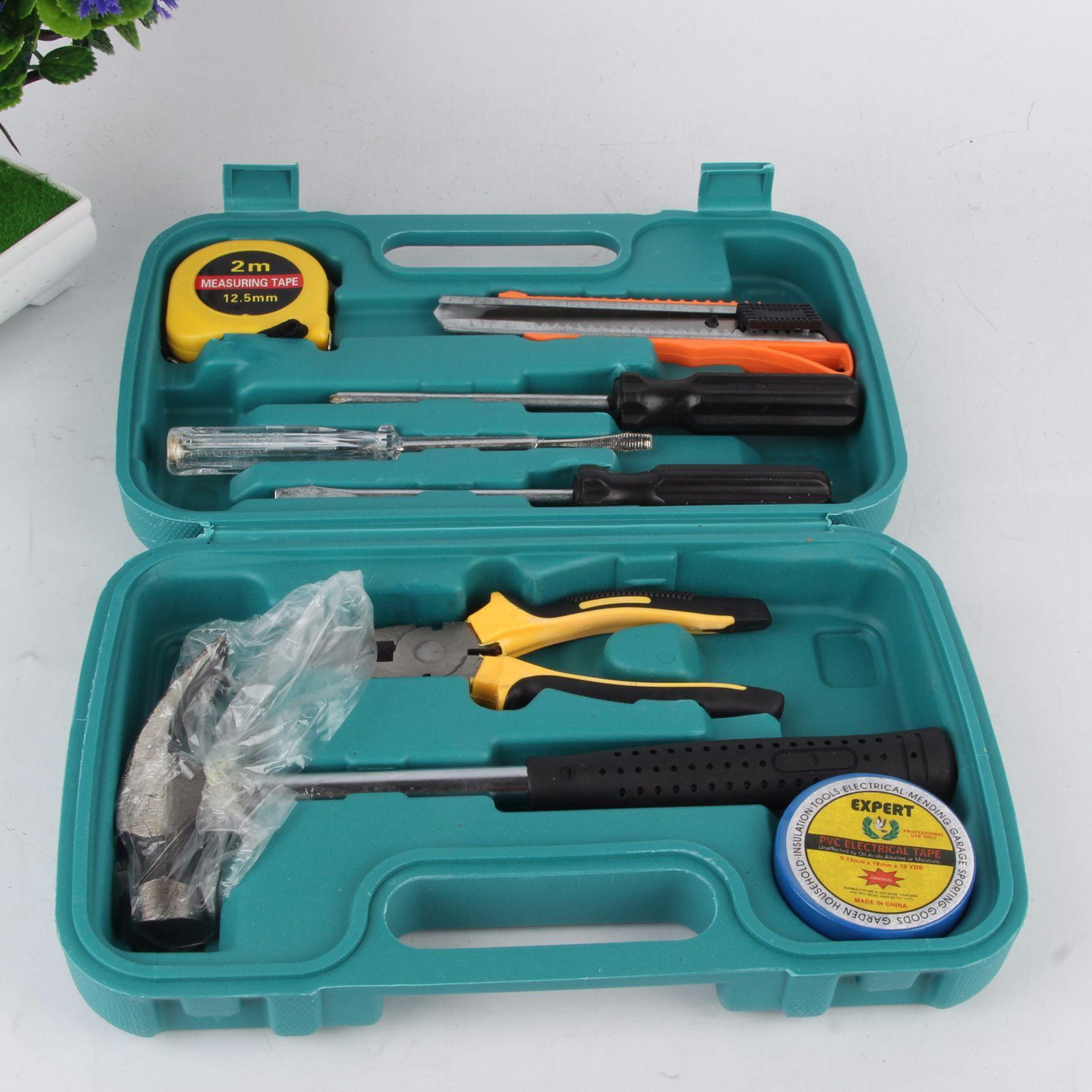 大号手提8件套五金工具组合箱 套装工具组合礼品赠品五金工具货源