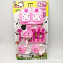 仿真餐具10件套 新款儿童过家家厨房用具 地摊赶集热卖玩具批发
