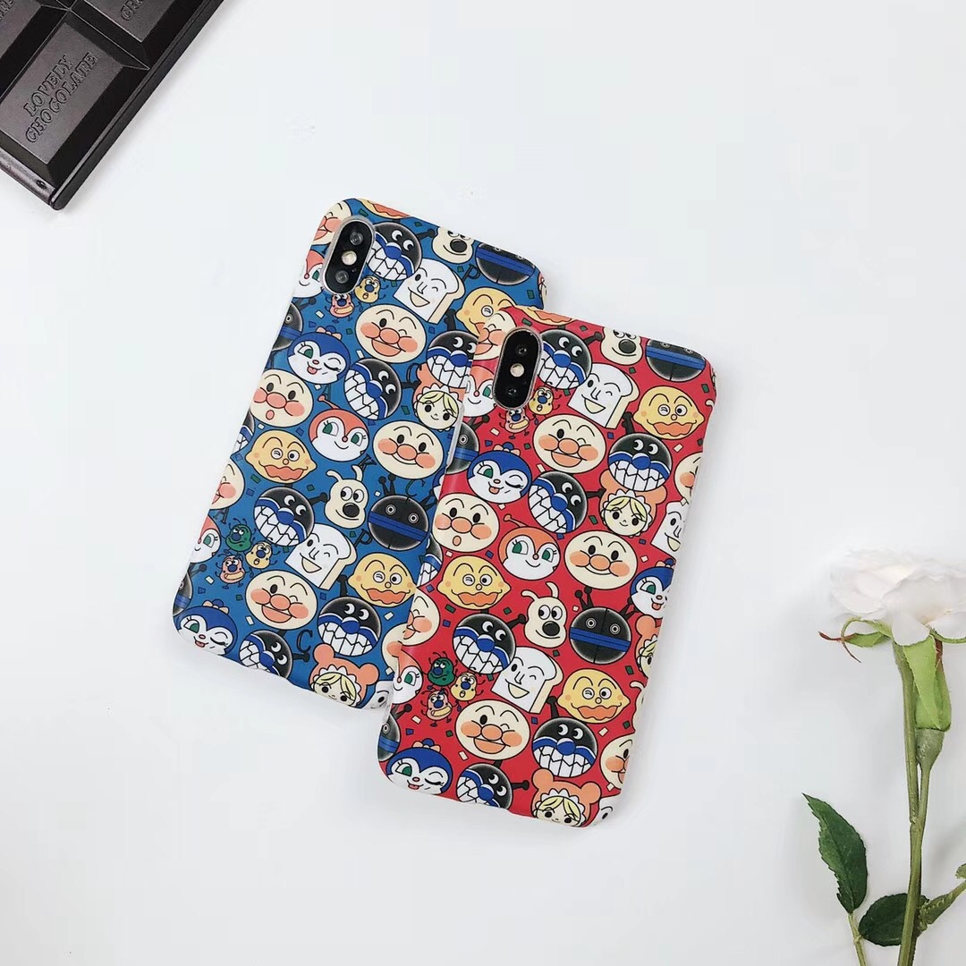Ins with the bread Superman Apple x mobile phone shell iphone7/8plus soft silicone 6s couple creative cartoon