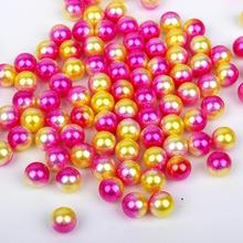 厂家直销 ABS仿珍珠 diy发饰珍珠珍珠无孔圆珠仿珍珠 无孔