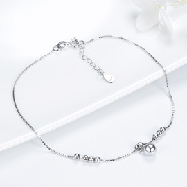 new anklet s925 sterling silver simple anklet female not inlaid footwear