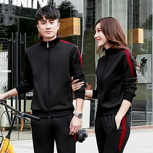 2020 spring and autumn new couple suit outdoor sportswear leisure fitness running sportswear suit