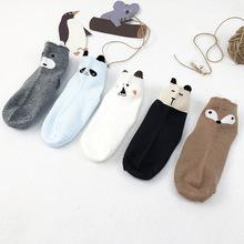 兒童襪子棉 19秋冬新品可愛卡通圖案男童女童襪 中筒精梳棉1-12歲