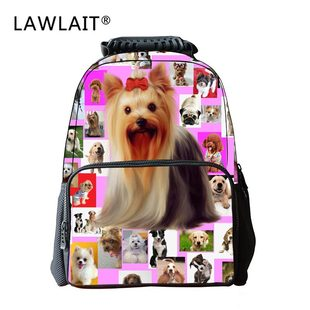Creative pet photos, children's lightweight backpack, simple backpack for primary and middle school students, cute portable backpack