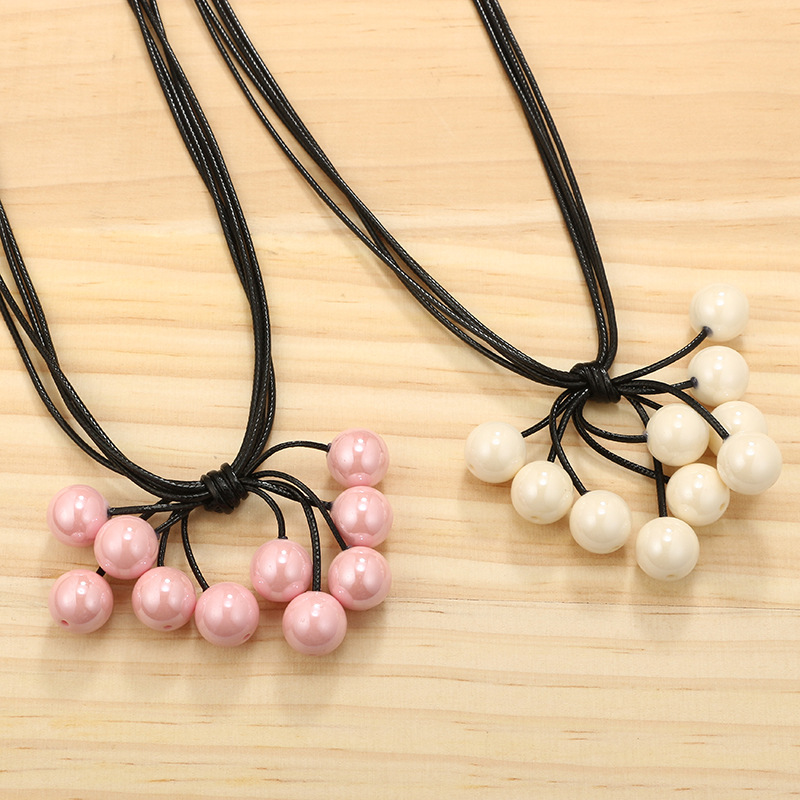 Alloy Fashion Geometric necklace(Pink) NHGY1801-Pink