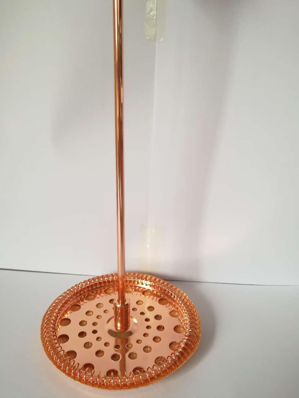 高档品质 镀玫瑰金法式滤压器 法压壶配件 304食品级材质咖啡器具