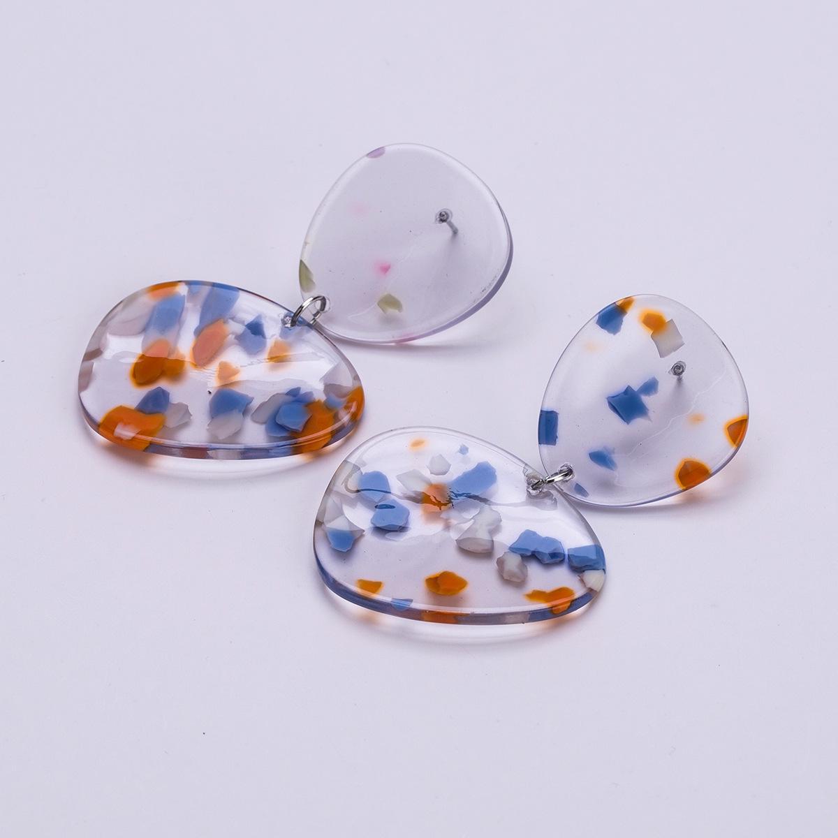 Alloy Fashion Geometric earring  (blue) NHJE1495-blue