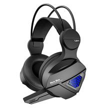 吃鸡游戏耳机 有线头戴式耳机 发光电脑电竞耳麦 带麦低音炮耳机