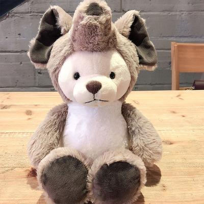 JSQ TOYS新款变身变衣熊毛绒玩具可爱大象公仔布娃娃女孩礼物批发