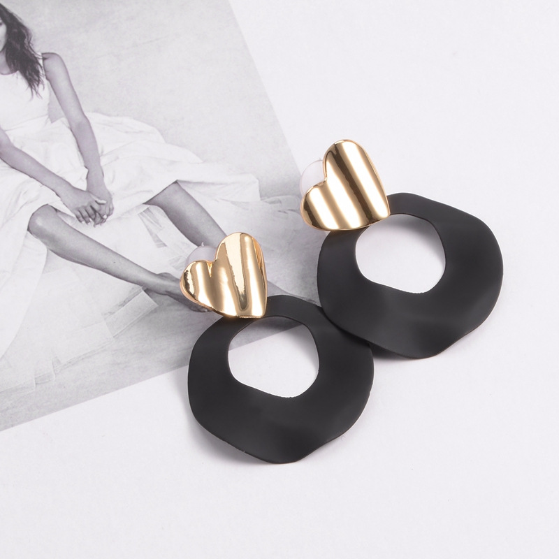 Korea Alloy earring Geometric NHYT0874-green