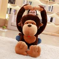 猩猩毛绒玩具长臂猴子公仔布娃娃长臂猿玩偶抱枕创意生日礼物