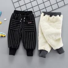 婴幼儿冬季裤子男宝宝棉裤加绒加厚1-3岁外穿男童休闲裤保暖长裤