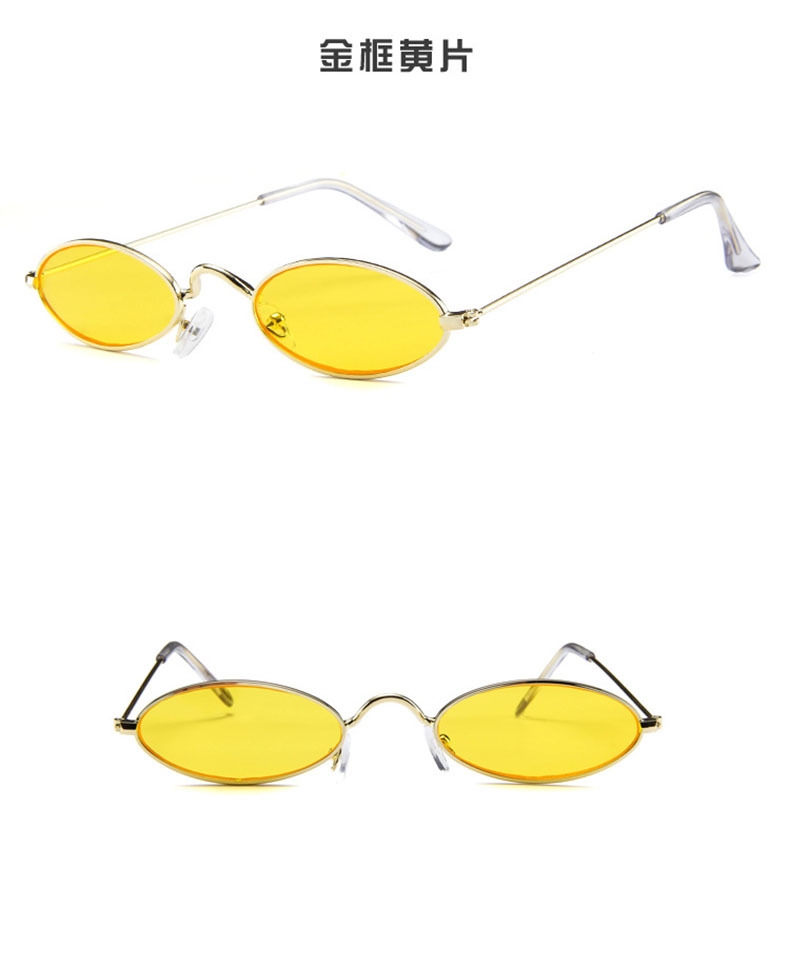 new simple oval small frame sunglasses NHBA311545