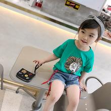 夏季卡通童t恤女童純棉短袖t韓版童裝上衣阿里巴巴童裝網一件代發