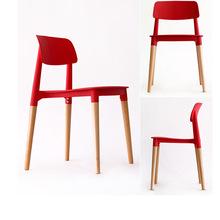 批发塑料餐椅北欧实木洽谈休闲椅子酒店餐厅简约咖啡厅白色餐桌椅