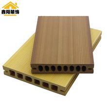 厂家直销新型家装建材 木塑地板 阳台庭院 塑木实心地板 140mm